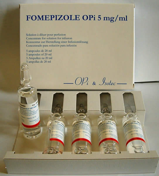 fomepizole - patient information, description, dosage and