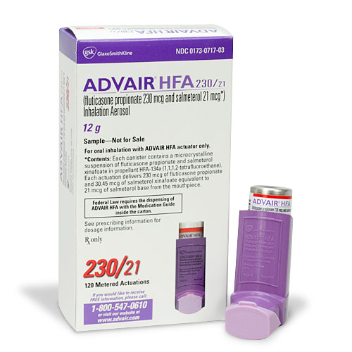 Advair HFA - patient information, description, dosage and