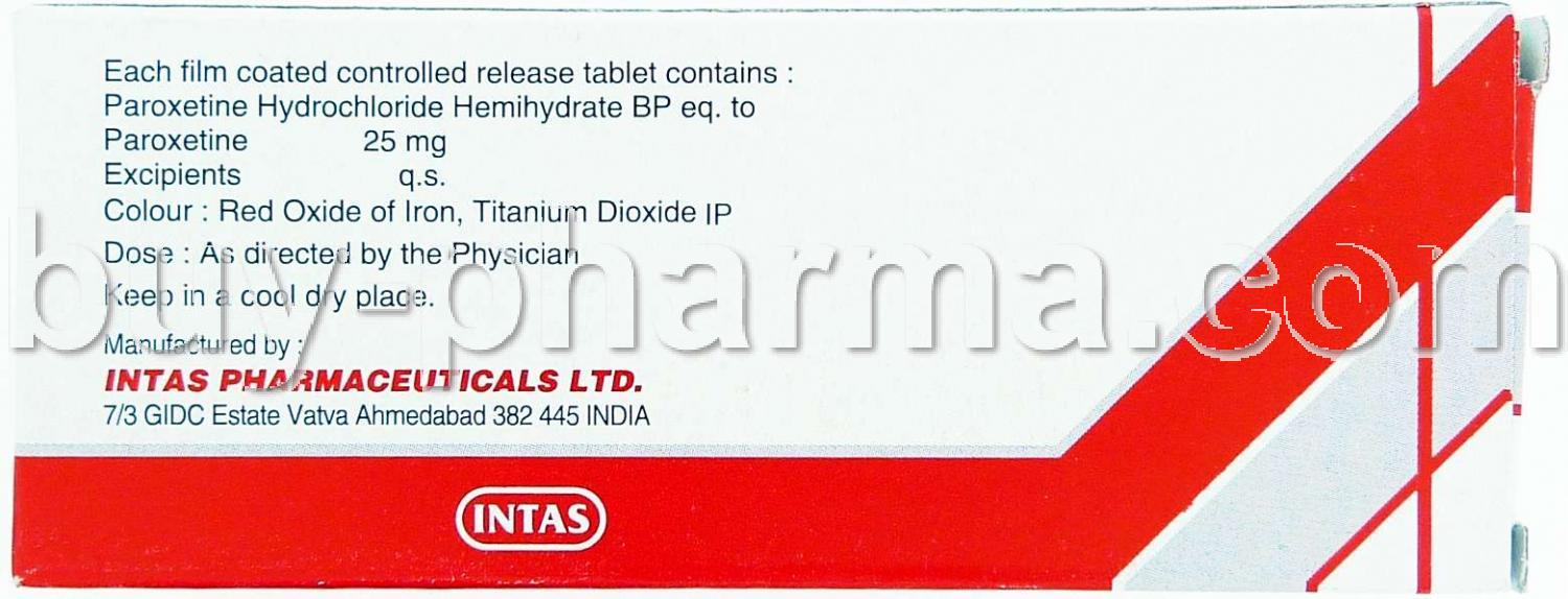 paroxetine controlled-release generic