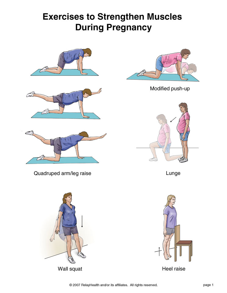 Exercise during pregnancy. Causes, symptoms, treatment ...