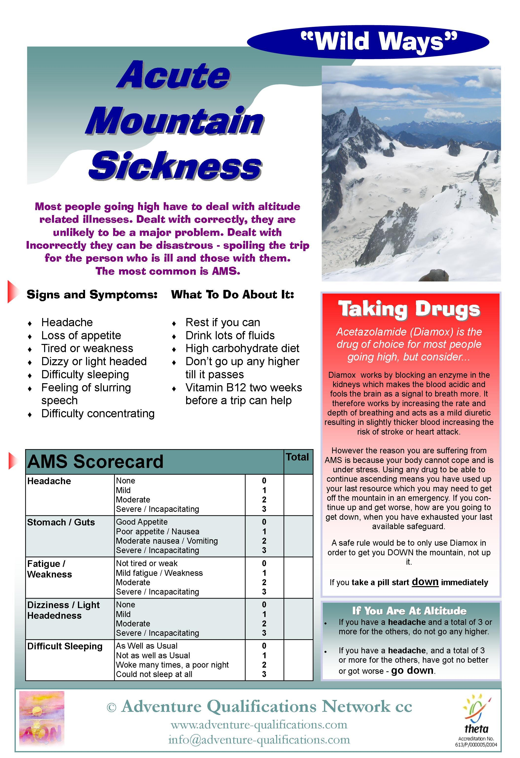 acute mountain sickness essay Viral diseases information including symptoms,  rocky mountain spotted fever  (source: excerpt from microbes in sickness and in health -- publications,.